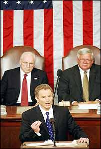 Tony Blair addressing US Congress