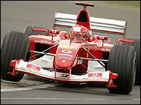 Michael Schumacher was quickest at Silverstone