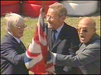 Bernie Ecclestone, Richard Caborn MP and Sir Stirling Moss