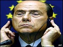 Berlusconi in the European Parliament