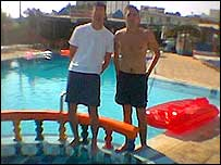 Me and Barny by the pool