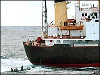 North Korean ship Pong Su, found by Australian naval boats to be carrying heroin earlier this year