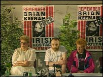 Brian Keenan with his sisters Brenda Gillhan and Elaine Spence