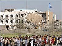 Bombed UN HQ in Baghdad