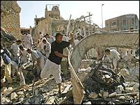 Destroyed building in Iraq