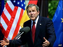 President Bush during a visit to Berlin in 2002