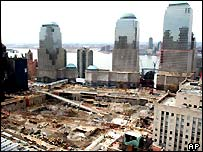 Demolished site of the Twin Towers