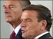 Gerhard Schroeder and Jacques Chirac