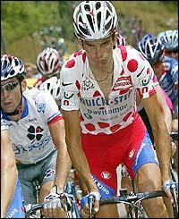 Richard Virenque rides uphill