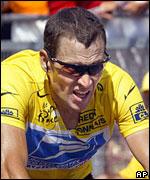 Lance Armstrong en el Tour de Francia.