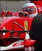 Rubens Barricello, ganador del Gran Premio Brit�nico