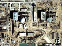 Satellite image of nuclear power reactor in Bushehr, Iran (Photo: DigitalGlobe)