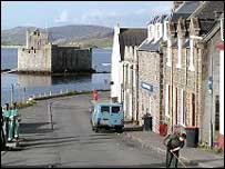 A view of Barra's main street