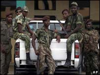 Soldiers in Sao Tome