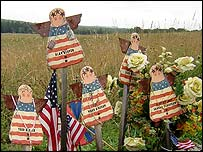 Angel memorial to passengers and crew of Flight 93 at the crash site