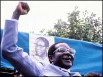 Defiant President of Zimbabwe, Robert Mugabe [Credit: BBC]
