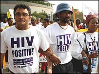 Aids activists protesting in South Africa
