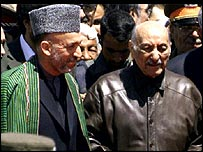 Hamid Karzai and Zahir Shah