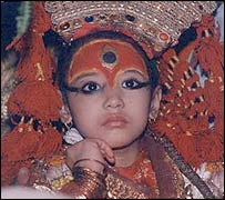 Picture of Kumari by Min Bajracharya