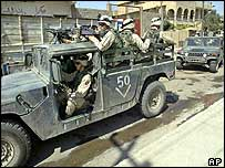 US patrol with Iraqi police in Mosul