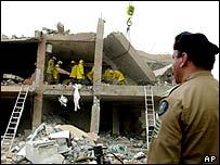 Al-Hamra compound in Riyadh, Saudi Arabia after the 12 May 2003 attack