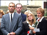 Family at funeral