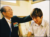 Park Heung Bok and his grandson Hyun Jin