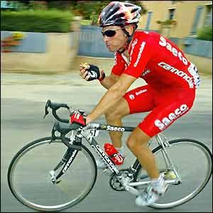 Giro D'Italia winner Gilberto Simoni