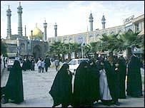 Shia Qum mosque in Iran