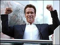 Arnold Schwarzenegger at the T3 UK premiere