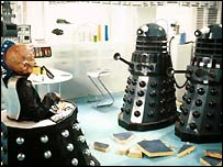 Davros and Daleks