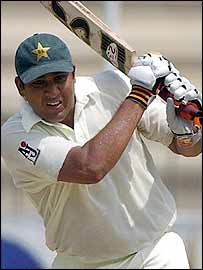 Inzamam-ul-Haq batting in Multan