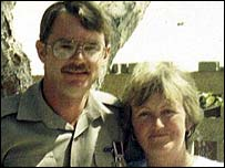 Ian Rimell with his wife Jennifer