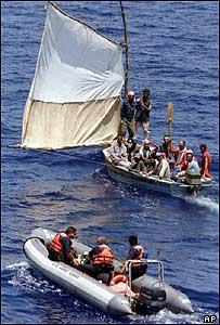 Cuban migrants in the Florida Straits