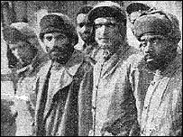 Prisoners of war including Richard Krepps, far left