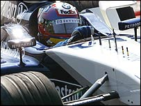 Williams driver Juan Pablo Montoya at the recent Monza test