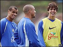 Rivaldo, Ronaldo y Kaka
