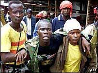 Liberian government soldiers
