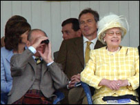 The Blairs in the royal box