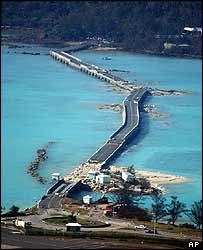 Causeway to Bermuda's airport
