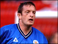 Leicester defender Gerry Taggart