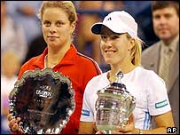 Kim Clijsters and Justine Henin-Hardenne
