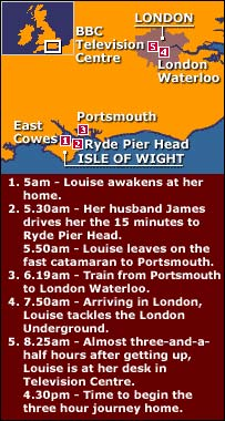 Louise's journey to work
