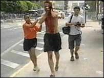 Injured man runs from bomb scene in Alicante