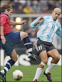 Juan Sebastian Veron turned the jeers to cheers with his display for Argentina against Chile