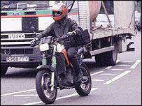 Motorcyclist in traffic