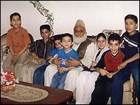 Abdul Hafiz Salib with his grandchildren