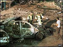 Wreckage from 2002 Fuengirola blast