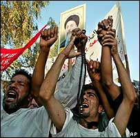 Iraqis in Baghdad mourning death of Shia cleric Ayatollah Hakim