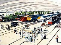 Artist's impression of Shildon Railway Village